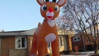 15 Foot Inflatable Rudolph