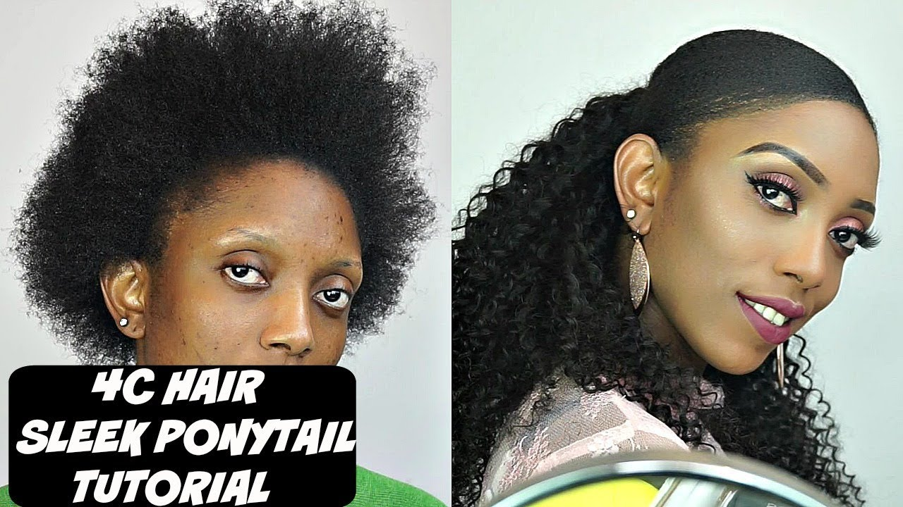 How To Do Sleek Ponytail On Short 4C Natural Hair Tutorial