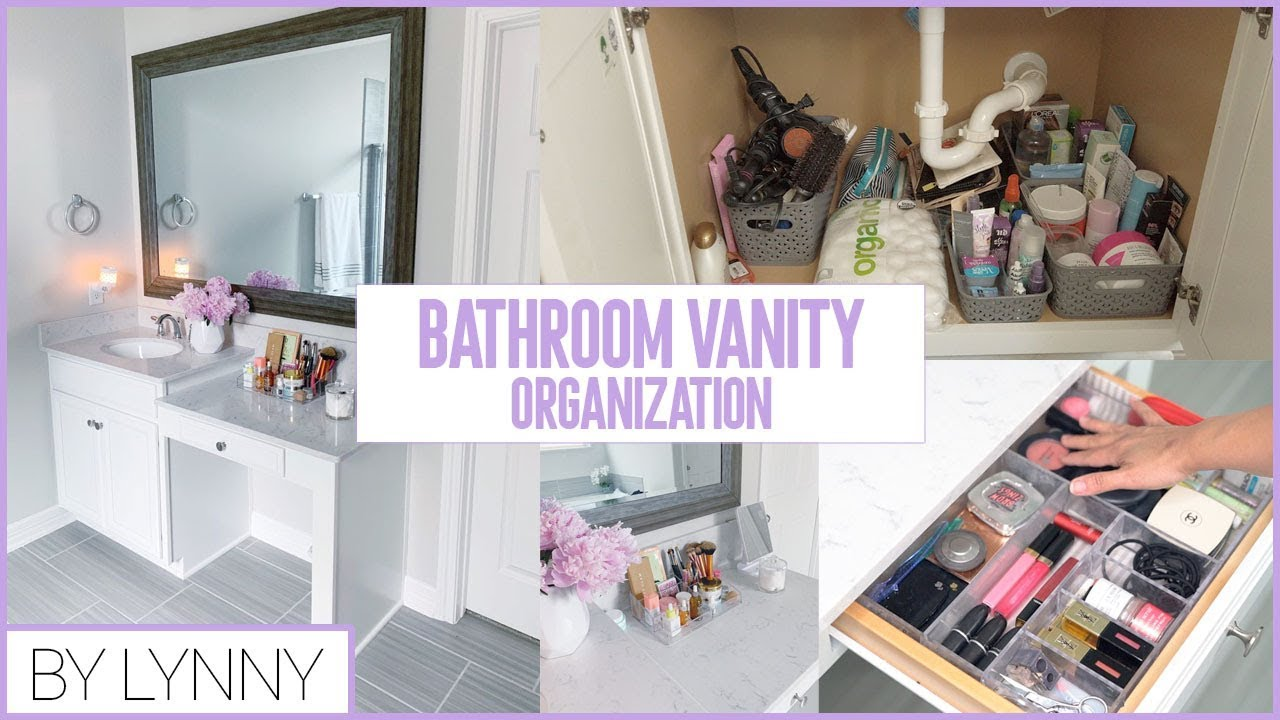 Bathroom Vanity Organization Bathroom Storage Ideas By Lynny Youtube