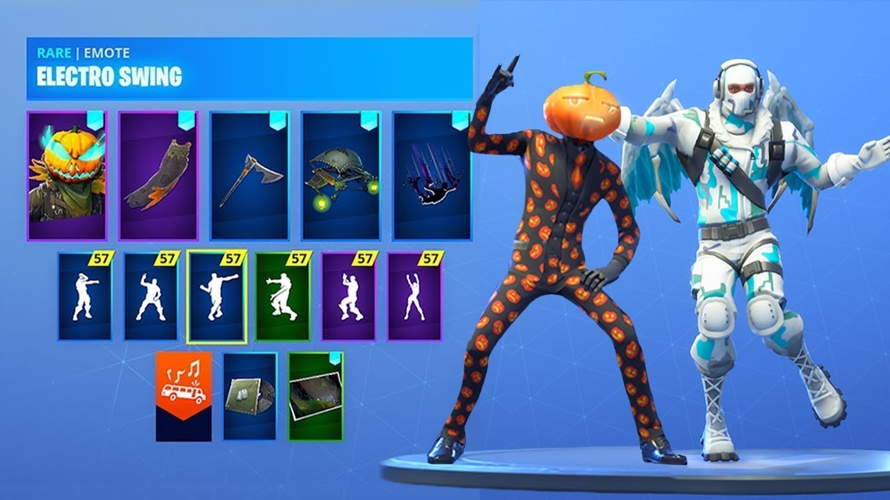 NEW* Fortnite Skins & Emotes..!! *SPOOKY* (HALLOWEEN SKINS) - YouTube