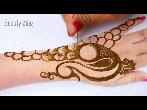 Peacock Arabic Henna Mehndi Design - 9 अक्षर से मोर की मेहँदी सीखने का नया तरीका |Eid Special Henna
