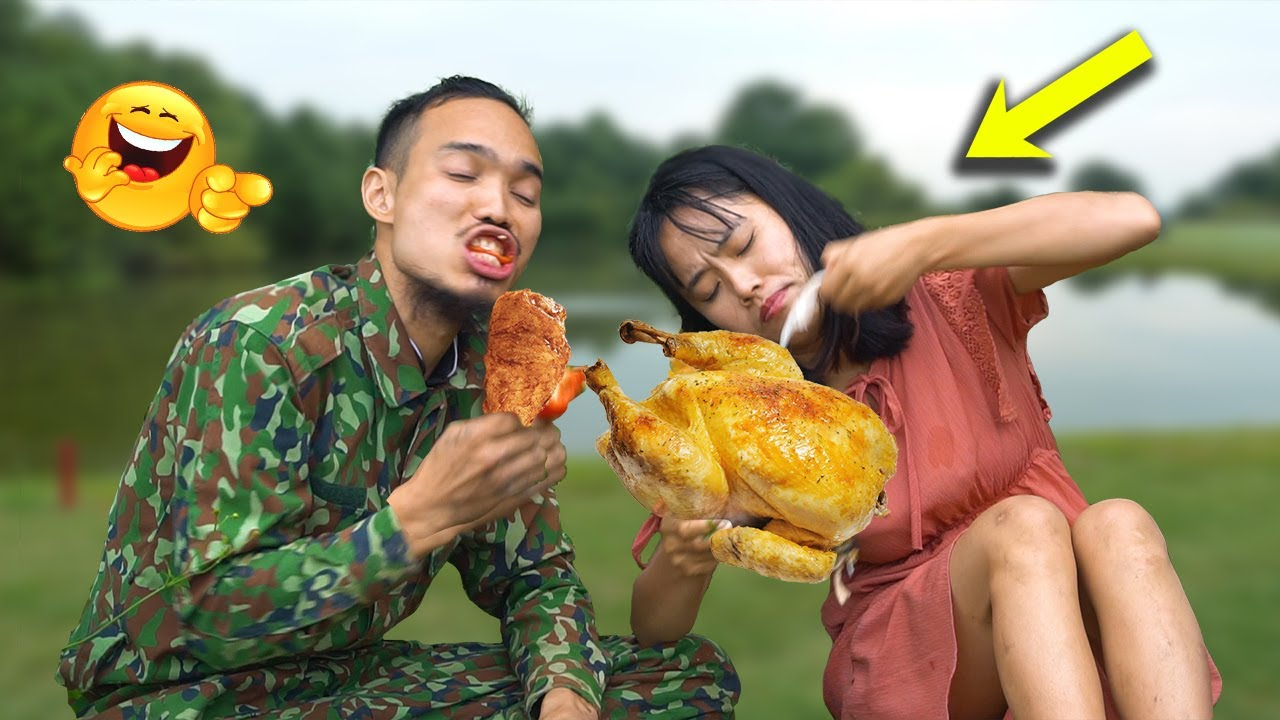 Survival skills   Looking For Food with Girl friend