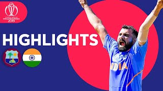 West Indies vs India - Match Highlights | ICC Cricket World Cup 2019