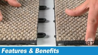 Interlocking Carpet Tiles - Carpet Flex Floor Tiles