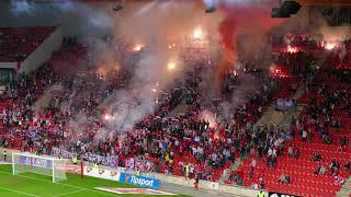PYRO na semifinále poháru Slavia - Mladá Boleslav (17.4.2018)