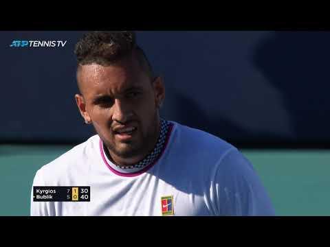 Exhibition tennis from crazy Kyrgios v Bublik match 😂 | Miami Open 2019