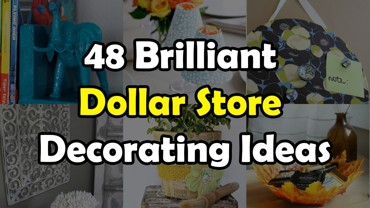 Brilliant Decor Shop. 48 Brilliant Dollar Store Decorating Ideas For Your Home  YouTube