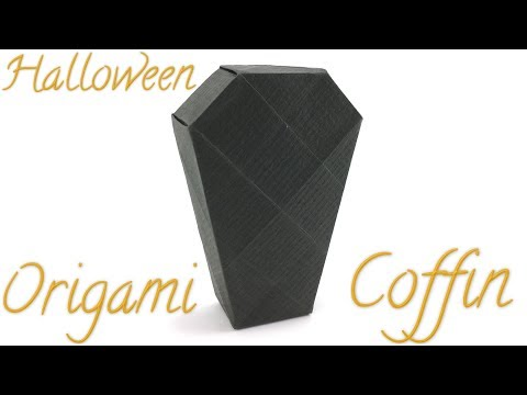 Halloween Origami Coffin Tutorial (Hyo Ahn)
