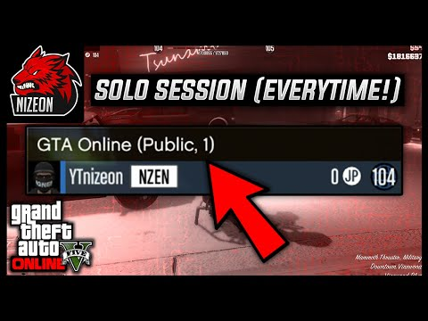 HOW TO JOIN A SOLO PUBLIC SESSION IN GTA 5 ONLINE (PS4)