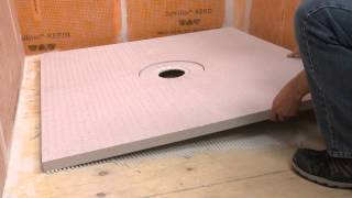 Extending a Schluter®-KERDI-SHOWER Tray with Dry Pack Mortar