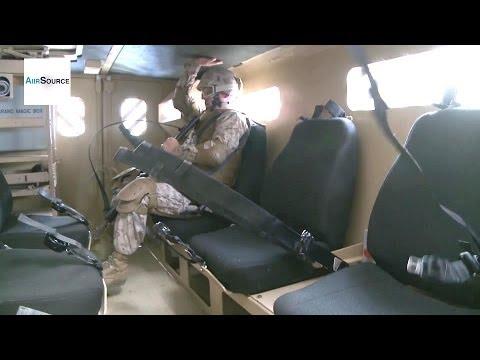 U.S. Marines Taking A Spin In MRAP Egress Trainer