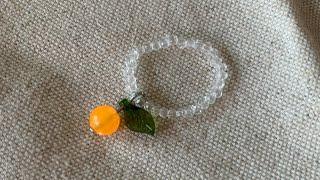 한라봉 비즈 반지 만들기 : 제주도 갬성