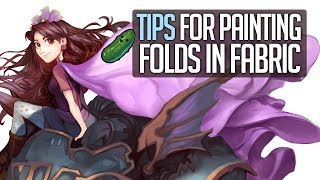 Tips for creating folds in fabric - Using reference to help your painting!