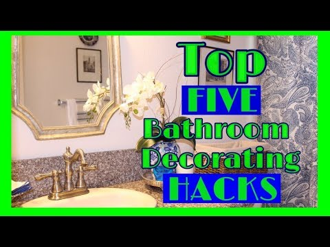 Five Hacks To Decorate A Bathroom On A  Budget / Small Bathroom Makeover / Budget Design  (2018)