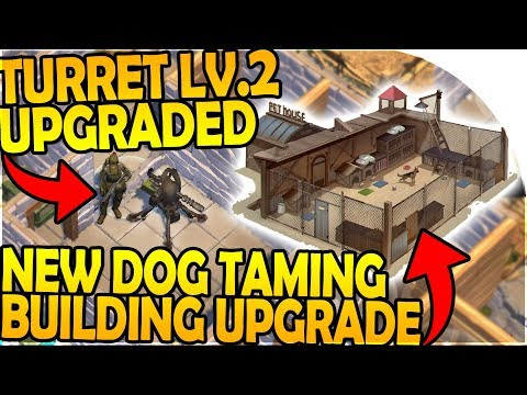 LEVEL 2 TURRET UPGRADED - DOG TAMING BUILDING UPGRADE - Last Day On Earth Survival 1.7.9 Update