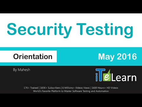 Security Testing Live Training Orientation For Beginners