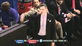 Louisville Coach Rick Pitino Receives Technical Foul Yelling At Own Player