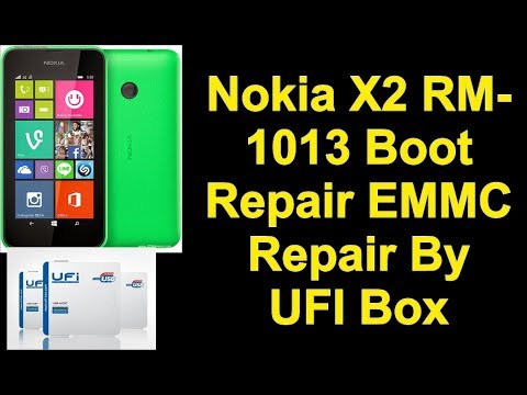 Nokia X2 RM-1013 Boot Repair EMMC Repair By UFI Box - IMET
