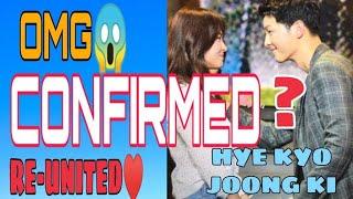 CHINESE MEDIA CLAIMED SONGSONG COUPLE REUNITED| SONG HYE KYO| SONG JOONG KI