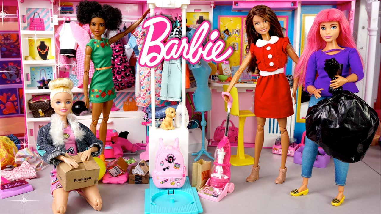 Barbie Cleaning Routine Dreamhouse Adventures Episode - Messy Closet