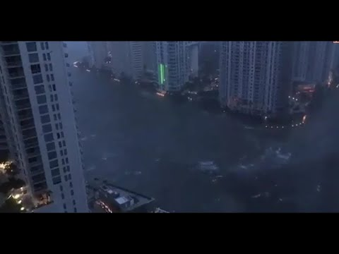 After Hurricane Irma in Miami. It's very scary!!