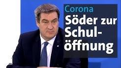 Corona-Krise: Söder zum Schulbeginn in Bayern   BR24