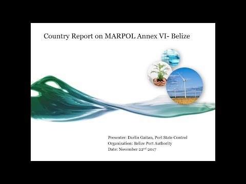 Country Report on the implementation of MARPOL Annex VI - Belize