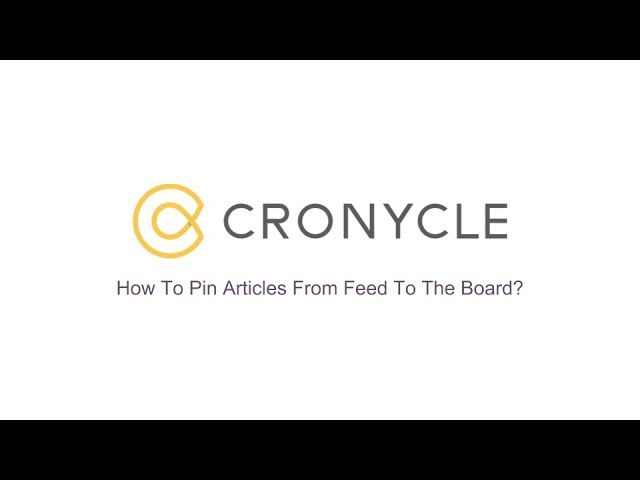 Pin Articles From Feed To The Board