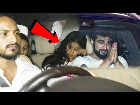 देर रात Janvhi Kapoor मिली अपने भाई Arjun Kapoor से उस के घर पर