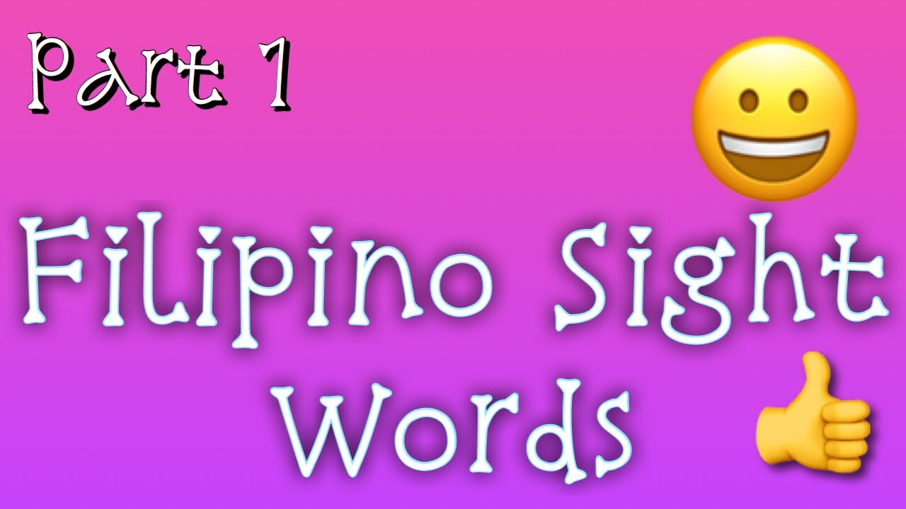 medium resolution of Filipino Sight Words Worksheets Samut Samot   Dubai Khalifa