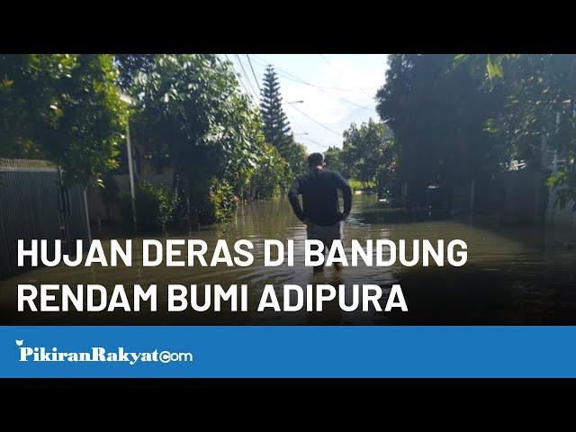 Bandung Diguyur Hujan, Komplek Bumi Adipura Gedebage Kota Bandung Terendam Air