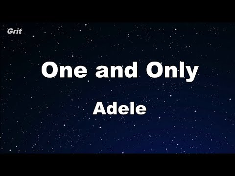 One And Only - Adele Karaoke 【No Guide Melody】 Instrumental