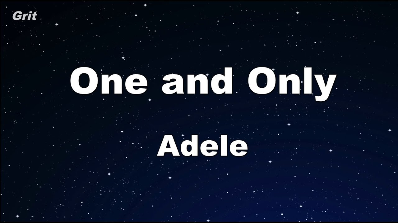 One And Only - Adele - MP3 instrumental karaoke