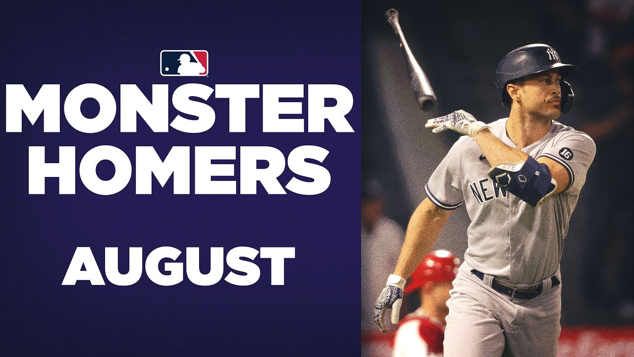 The MONSTER Home Runs of August! (Longest home runs of the month)