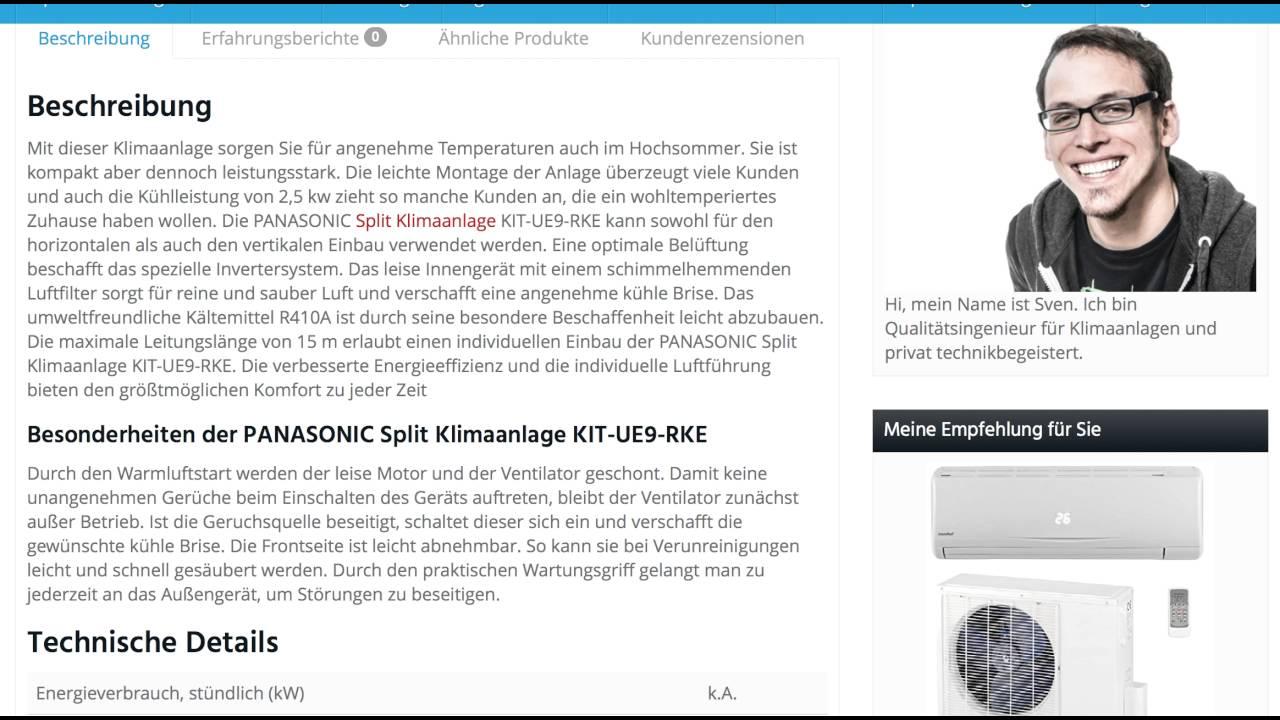 erfahrungen: die panasonic split klimaanlage kit ue9 rke im test