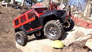 MALL CRAWLER goes Off Road on Backyard Trail Course - Founder 2 RUBICON 8th Scale | RC ADVENTURES