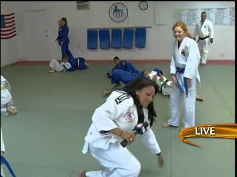 Alex learns some moves at Kodokan Judo in Cape Coral