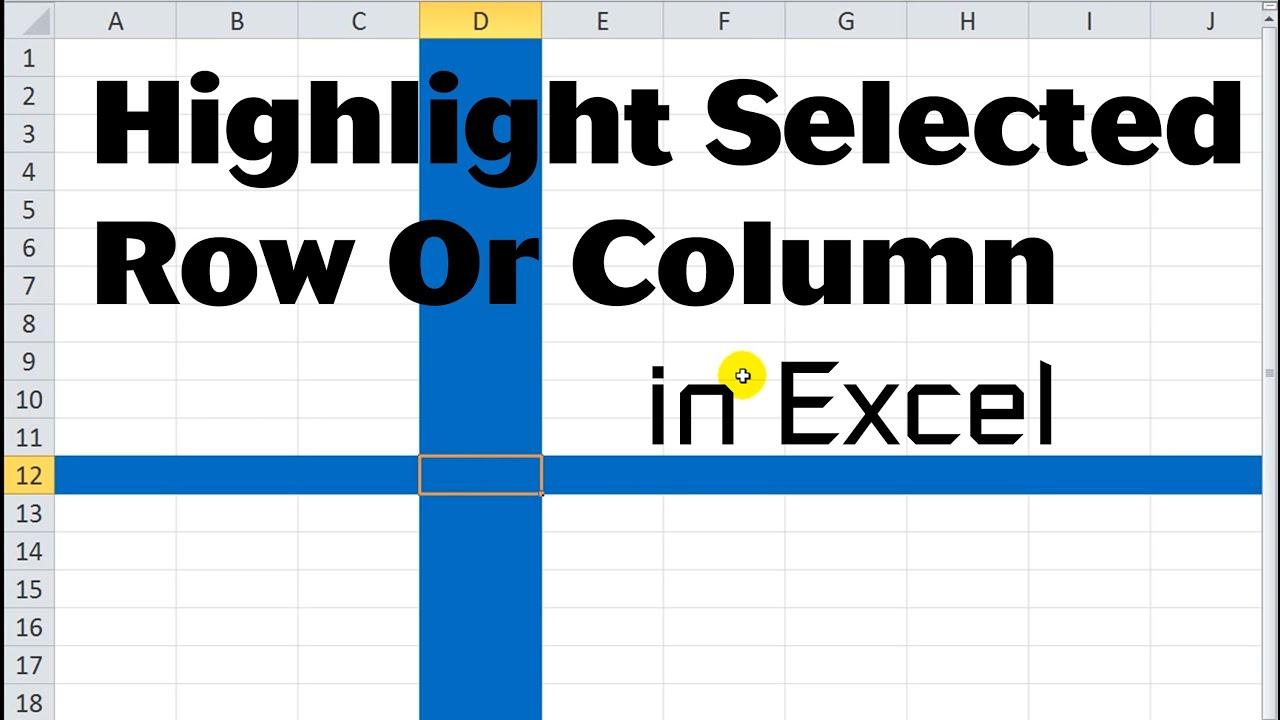 Excel Vba Tips N Tricks 17 Highlight Selected Row Or Column