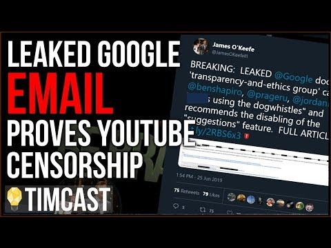 Google Email LEAKED, Proves Conservative Censorship At Youtube
