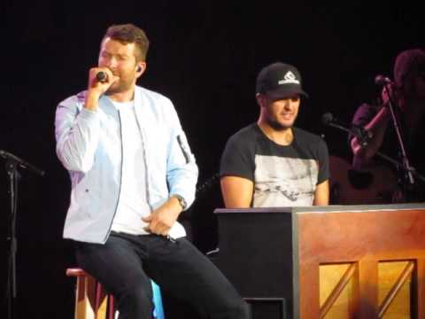 Luke Bryan, Brett Eldridge, Brett Young Night Moves, Thinking out Loud & Lets get it on 3-10-17 NC