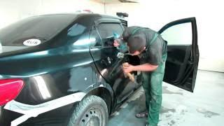 Toyota Corolla борьба с бликами или просто подготовка бочины.  День 2