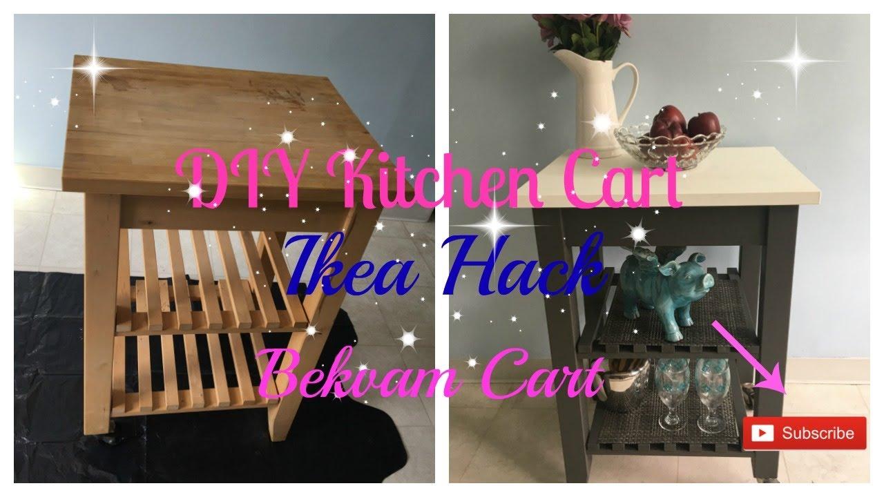 Diy Kitchen Cart I Ikea Hack I Bekvam Cart