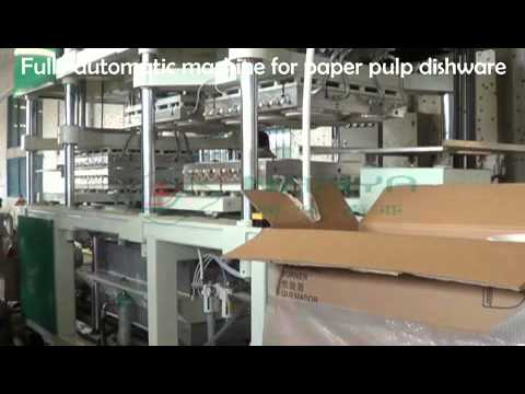 Full Automatic Tableware Making Machine Paper pulp Plate Production Line
