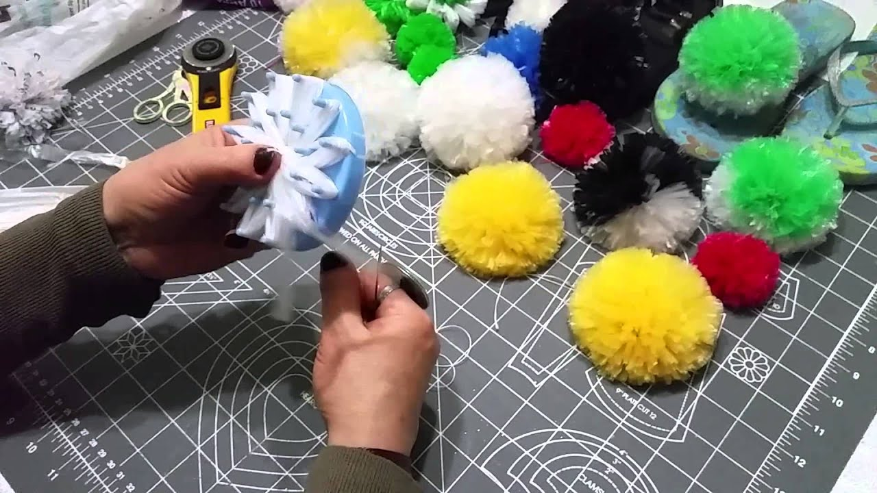 Poşetten Çiçek Yapımı