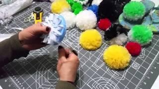 plastik poşetten ponpon yapımı...