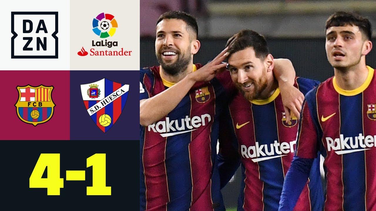Download Xavi-Rekord eingestellt! Messi mit Traumtor im 767. Spiel: Barcelona - Huesca 4:1 | LaLiga | DAZN
