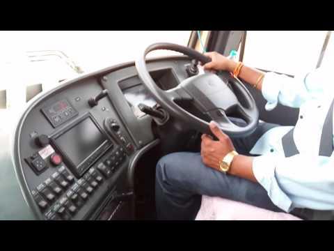 Volvo bus driving tsrtc