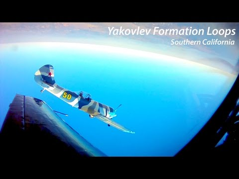 Yakovlev Formation Loops with Cockpit Comms and ATC  [HD]