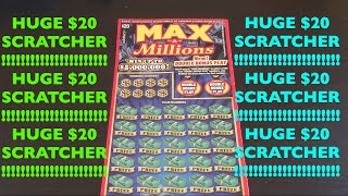 MASSIVE $20 SCRATCHER!! Max A Millions $20 California Lottery Scratcher | Keph Empire