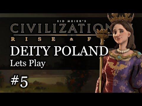 #5 Polish Deity Civ 6 Rise & Fall Gameplay, Let's Play Poland!
